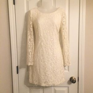 Sparkly Sequin Little White Dress